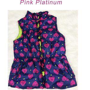 Pink Platinum Puffer Vest Sz 5/6